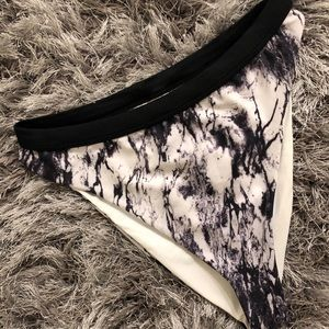 black and white marble high waisted rave bottoms
